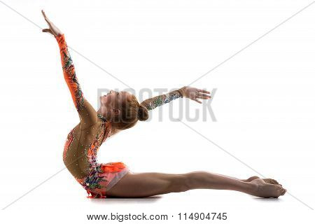 Gymnast Girl Working Out