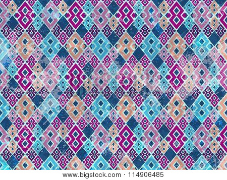 Abstract Background Rhomb Blue