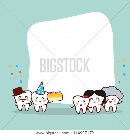Happy Birth Day Tooth Family