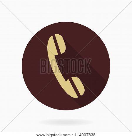 Fine Vector Telephone Receiver Flat Icon