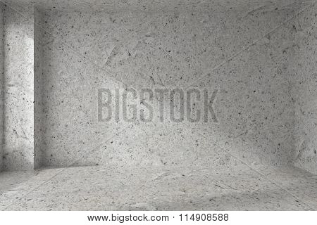 Empty Spotted Concrete Room Wall With Corner