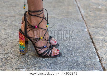 Detail Of Shoes At Milan Men's Fashion Week 2016