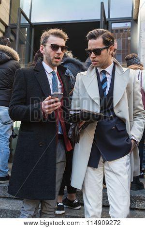 People At Milan Men's Fashion Week 2016