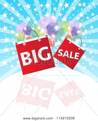 Big sale wording on shopping bags