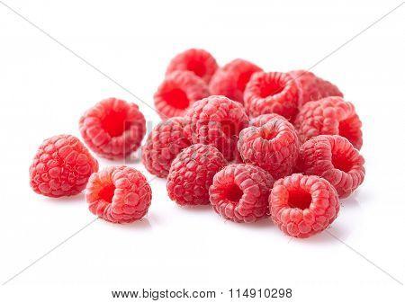 Raspberry heap in closeup
