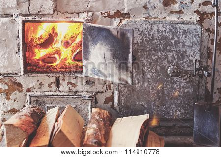 The Old Village Oven In A Rustic Style