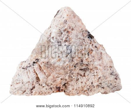 Granite Mineral Stone Isolated On White