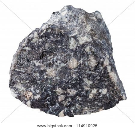 Specimen Of Andesite Mineral Stone Isolated
