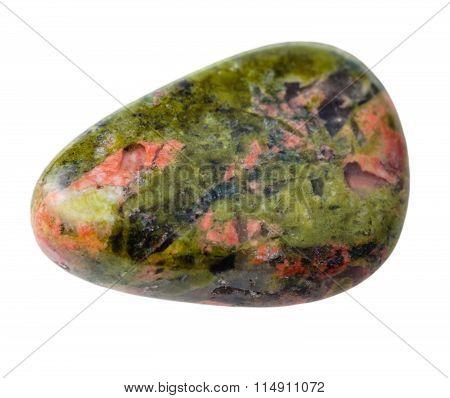 Specimen Of Unakite Gemstone Isolated