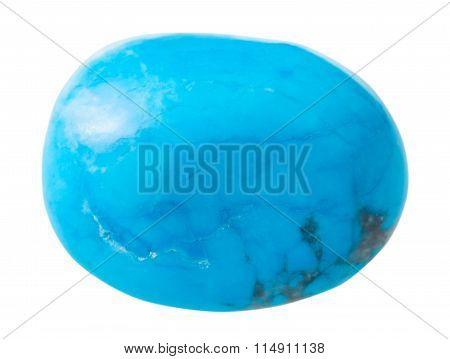 Specimen Of Turkvenit (blue Howlite) Gemstone