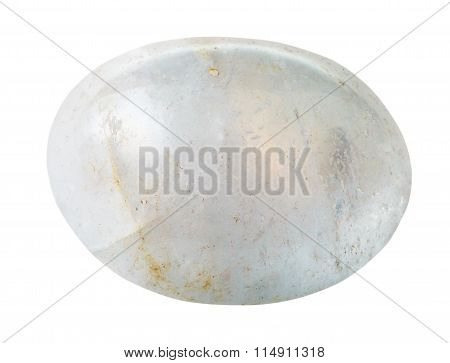 Specimen Of White Agate Gemstone Isolated