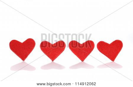 Four Little Red Hearts
