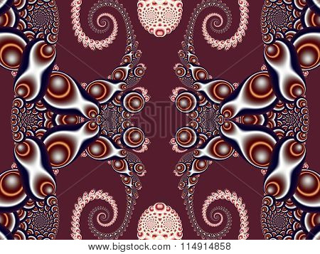 Beautiful Background With Spiral Pattern. Vinous And Gray Palette. You Can Use It For Invitations