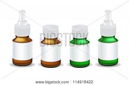 Medical Bottle Template Vector Illustration