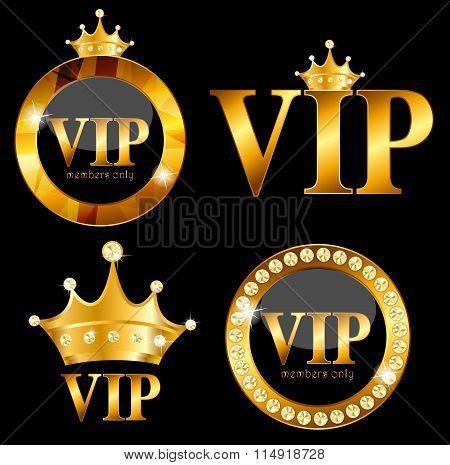 VIP Members Card Vector Illustration