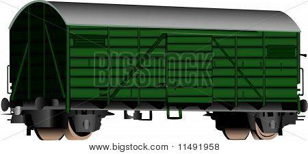 3D Railroad Boxcar