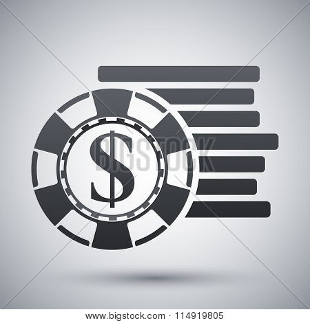 Vector Gambling Chips Icon