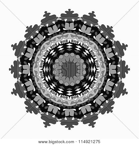 Mandala, Tribal Ethnic Ornament. Vector Illustration