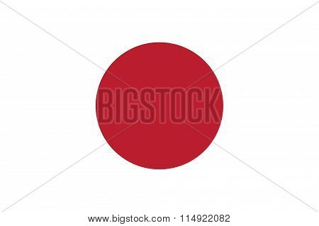 Japan Flag Illustration Of Asian Country
