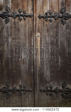 Old Historic Wooden Decorated Doors, Background