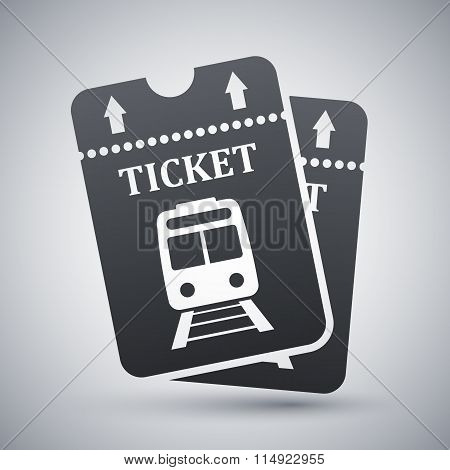 Vector Train Tickets Icon
