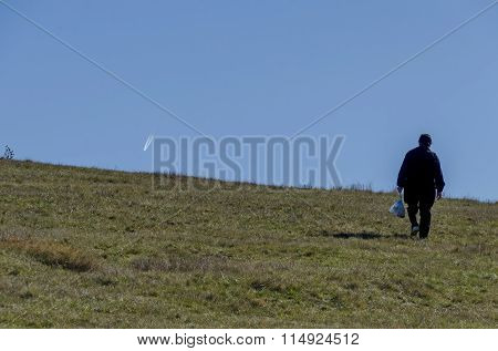Walk in the autumnal field of Plana mountain