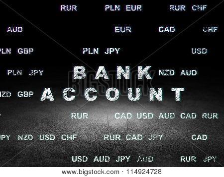 Money concept: Bank Account in grunge dark room