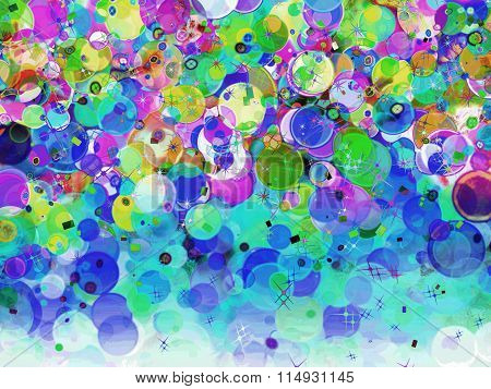 Multicolored Bubble Abstract Background.
