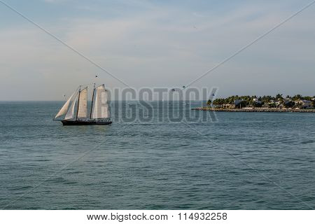 Parasails Beyond Sailboat