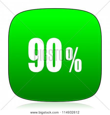 90 percent green icon