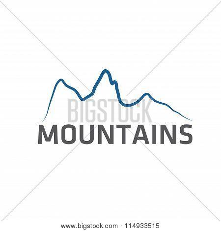 Mountains Abstract Illustration