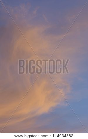Background - Wispy Clouds At Sunset - Portrait Orientation