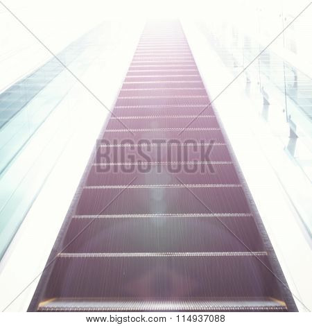 Escalators Stairway As A Concept Of Successful Elevation - Outdoors Shot