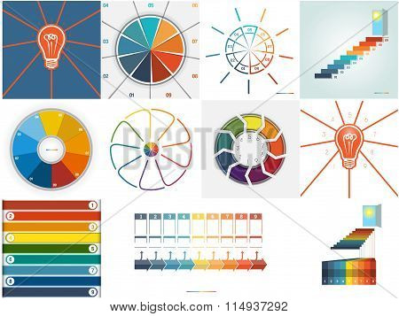 Vector 11 Templates Infographics