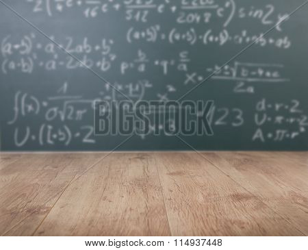 Mathematical Formula On Chalkboard