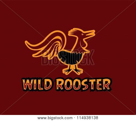 Illustration Of Wild Rooster
