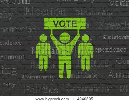 Political concept: Election Campaign on wall background