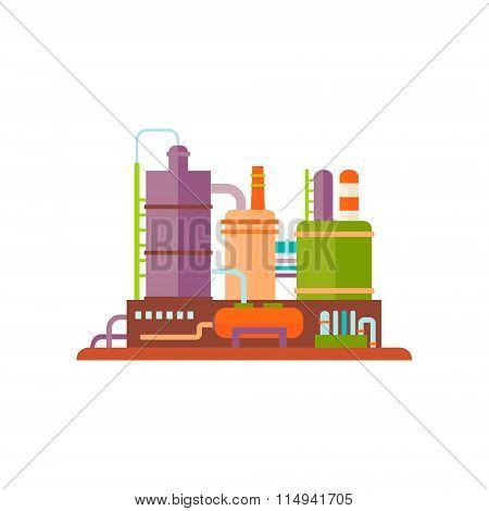 Industrial Factory Buildings Vector Illustration