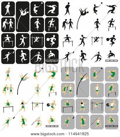 Sports Icons Athletics