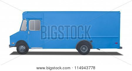 Delivery Truck On A White Background