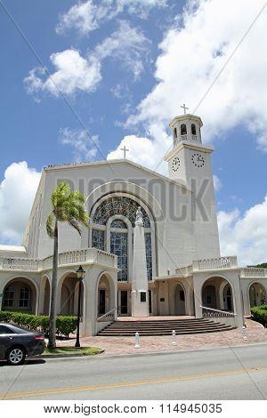 Dulce Nombre de Maria Cathedral Basilica in Guam Micronesia