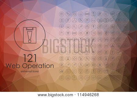 Set of web operation icons