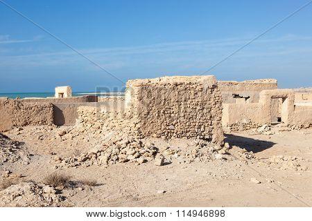 Al Zubara Archeological Site. Qatar, Middle East
