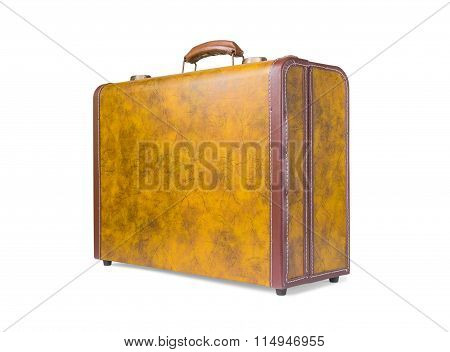 Retro Suitcase Of Genuine Leather