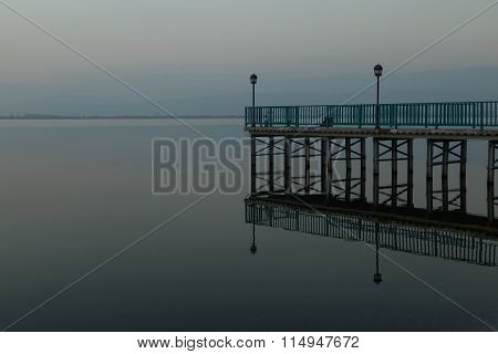 pier and its reflection