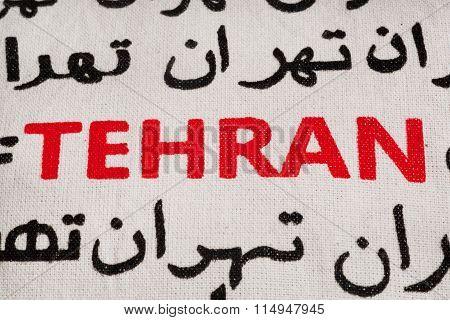 Tehran In Selective Focus, In Farsi And English