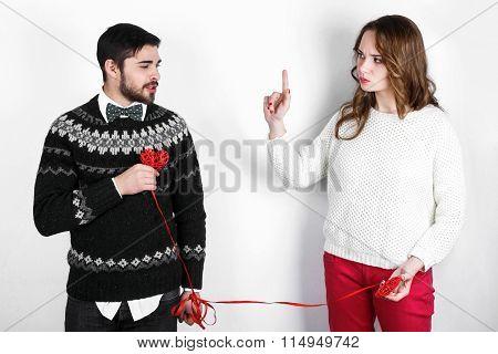 Happy Stylish Couple In Love