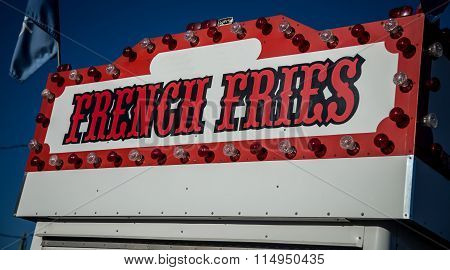 french fries sign