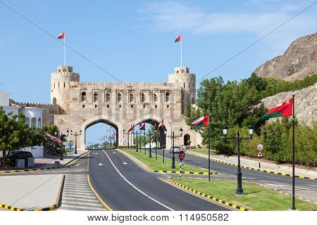 Gate To The Old Town Of Muscat, Oman