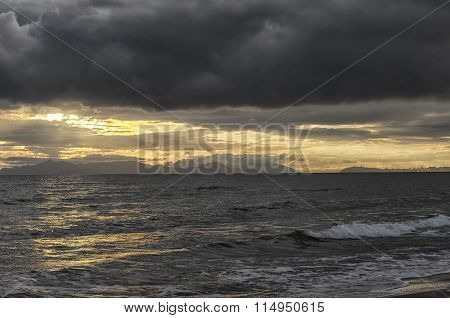 Winter Sea And Clouds
